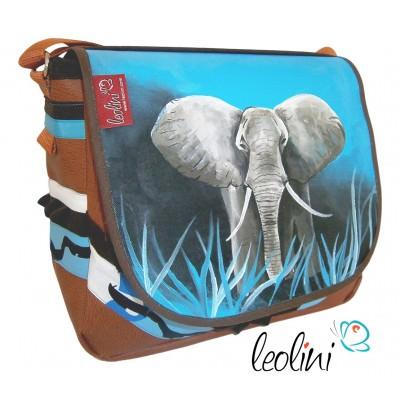 Elefantentasche, handgefertigte Umhängetasche von Leolini