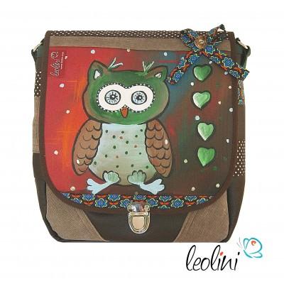 Eule Tasche mit Mappenschloss von Leolini