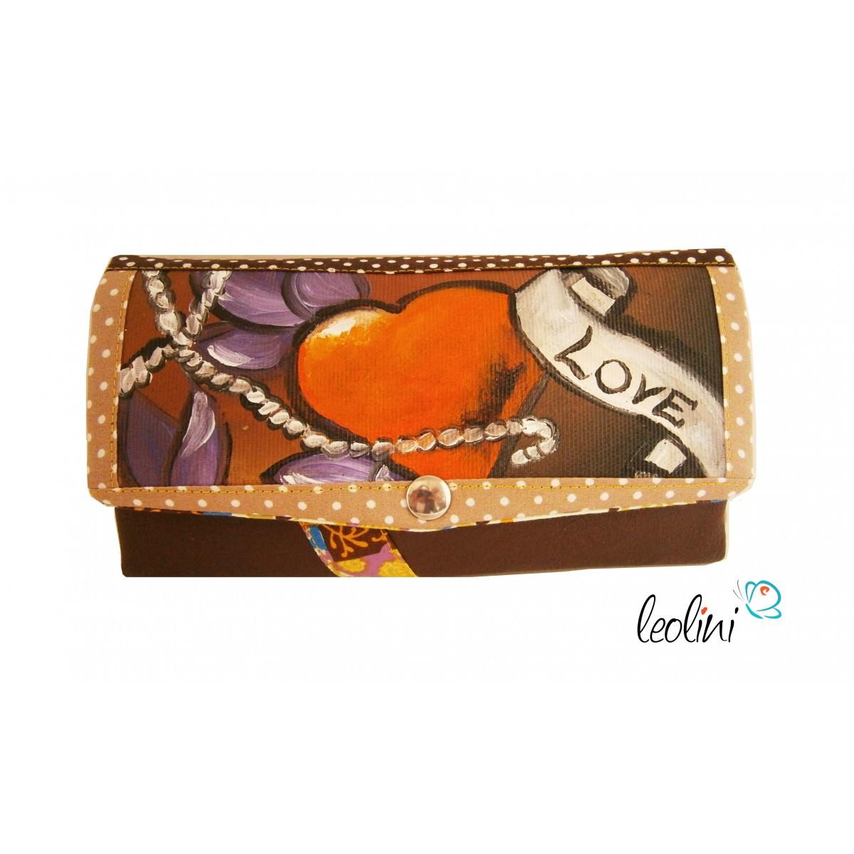 Portemonnaie - Geldbörse mit Herz und Banner