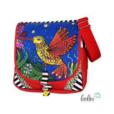 Hummingbird- handcrafted Messengerbag by Leolini