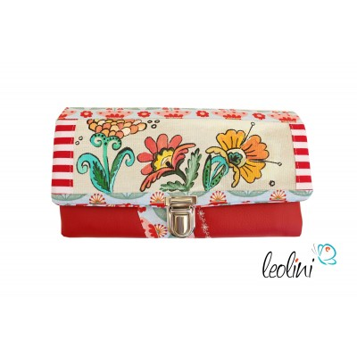 Wallet Purse with flowers