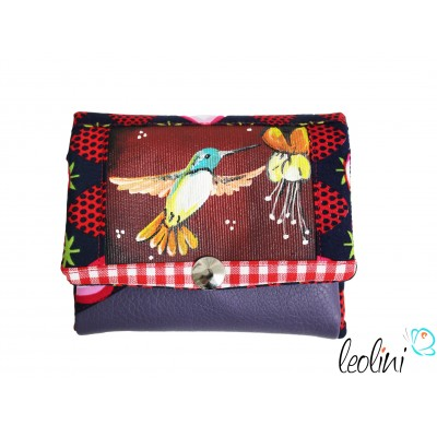 Small Wallet Purse with hummingbird