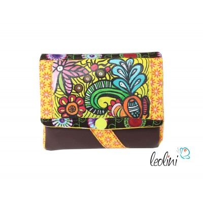Small Wallet, Purse with Flowers
