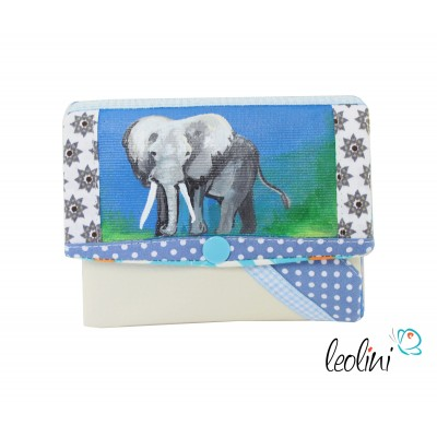 Small Wallet Purse with an elephant