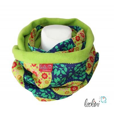 Loop für den Winter, Blumenmandala grün