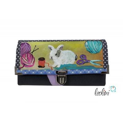Portemonnaie - Geldbörse DIY Lady with rabbit