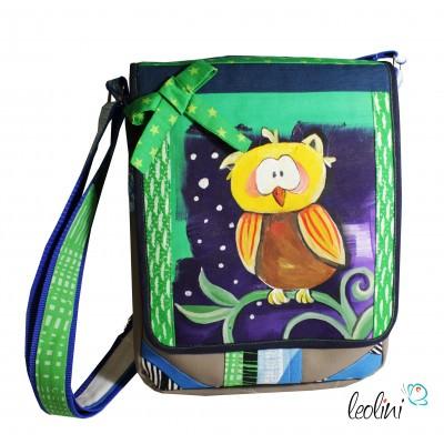 Kiwi Eule Tasche Umhängetasche mit Malerei