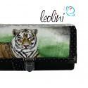 Handmade Portemonnaie - Geldbörse - mit Malerei Tiger