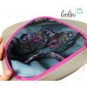 Flamingo Tasche mit echter Malerei - ein Einzelstück