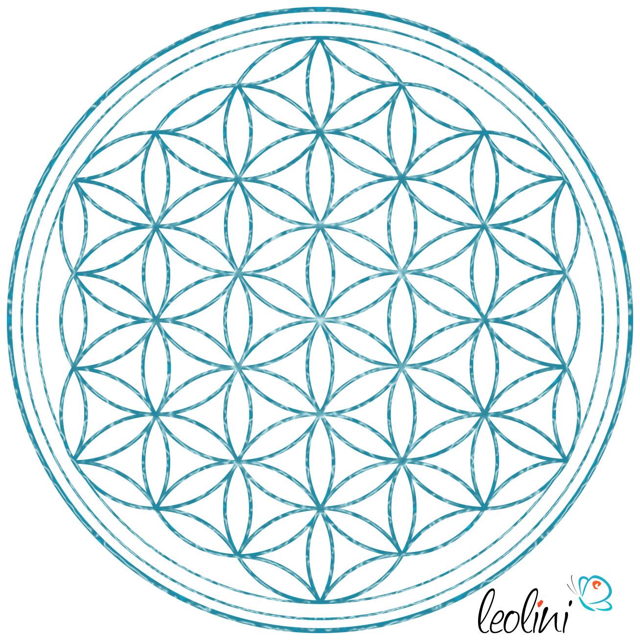 Blume des Lebens Relief türkis Leolini