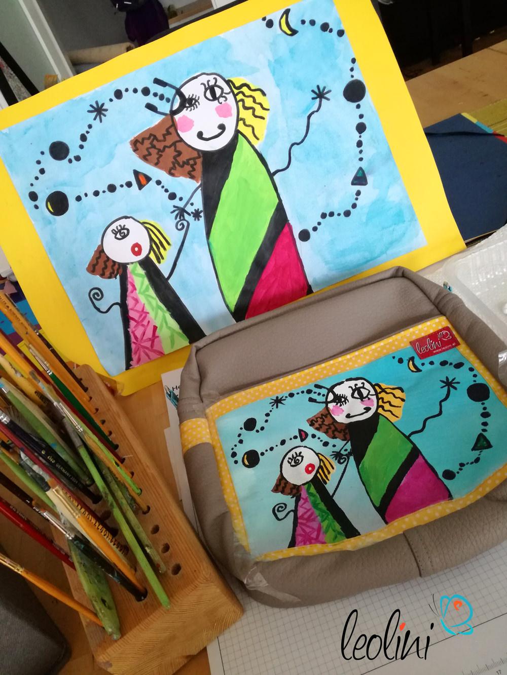 Wunschtasche mit Kinderzeichnung