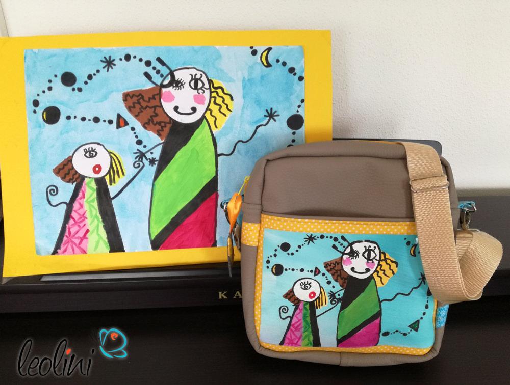 Wunschtasche Leolini mit Kinderzeichnung