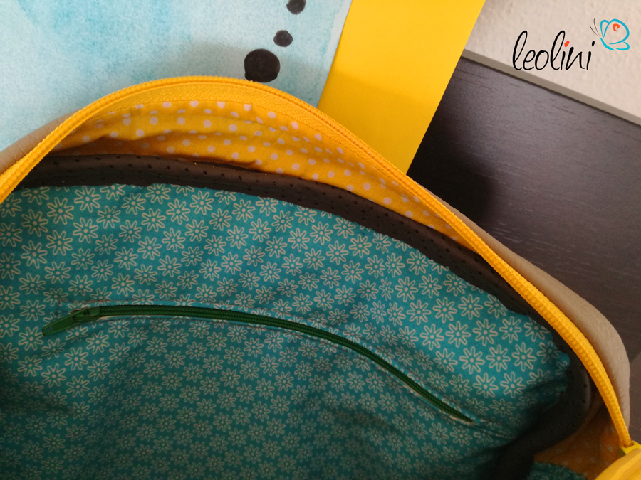 Innentasche Leolini Wunschtasche mit Kinderzeichnung