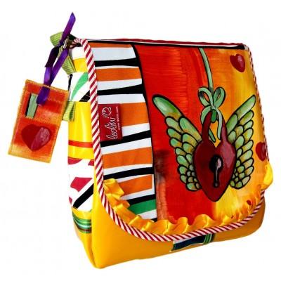 Wings of Love, Handgemachte Umhängetasche von Leolini