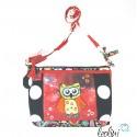 Pünktchen Eule, Handgefertigte Damentasche von Leolini