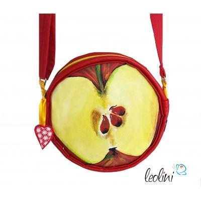 Apfel, runde Tasche aus der Reihe FRUCHTIS