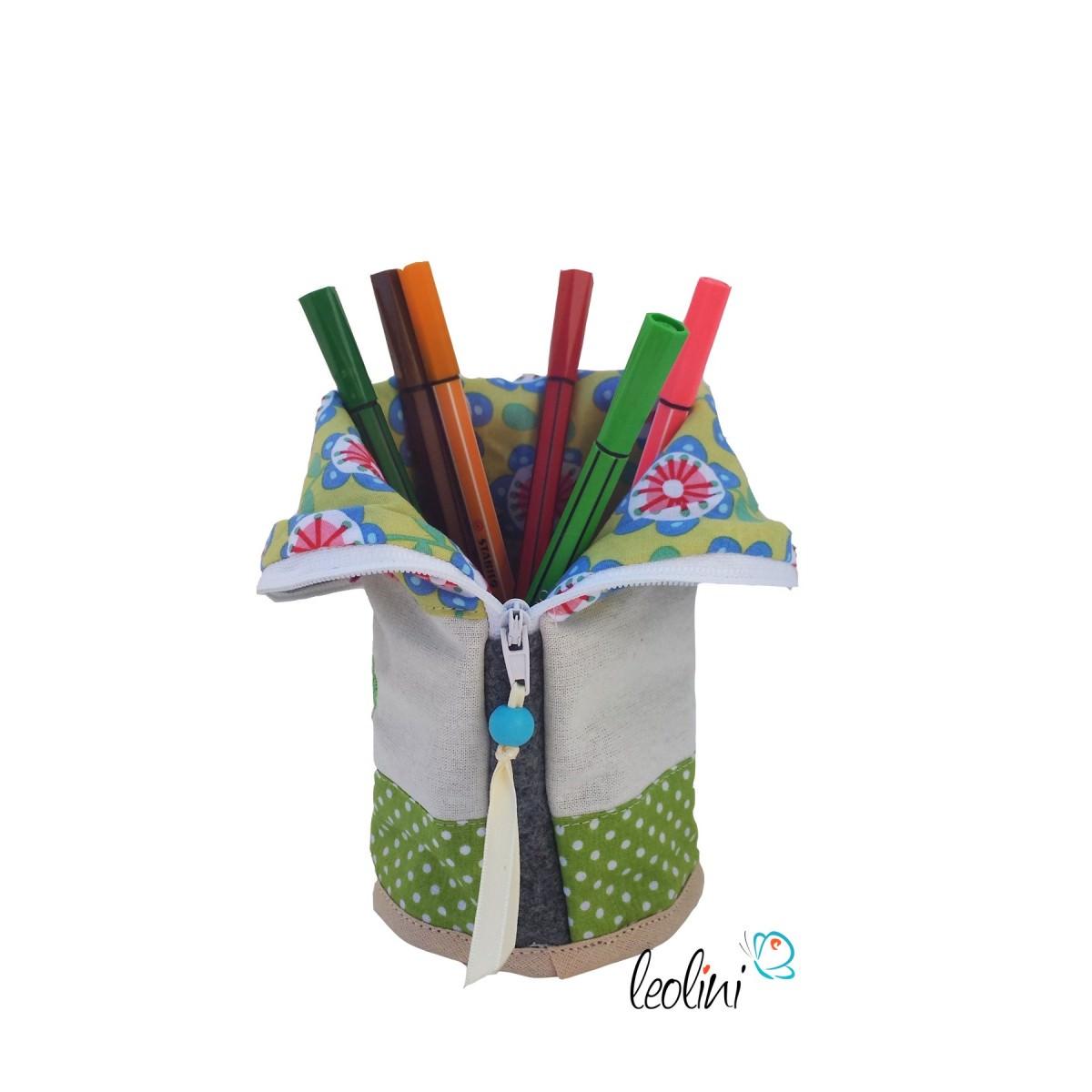 Stehende Stiftetasche Stiftepennal Buntstifte