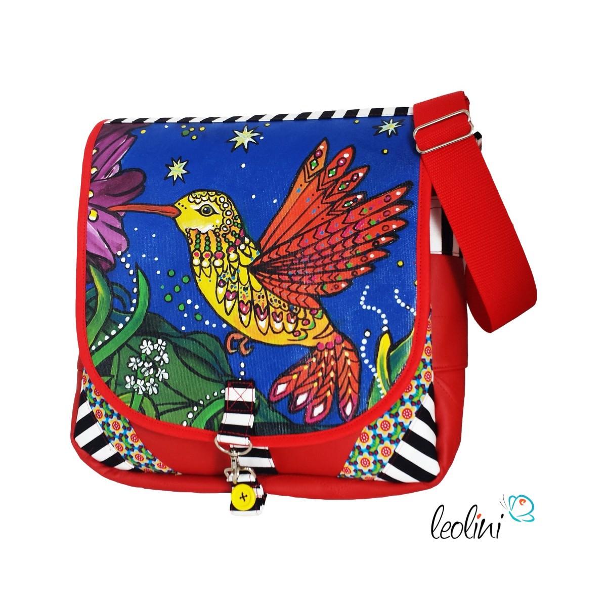 Umhängetasche mit Kolibri Malerei