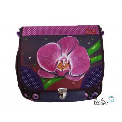 Tasche Umhängetasche mit Malerei Orchidee