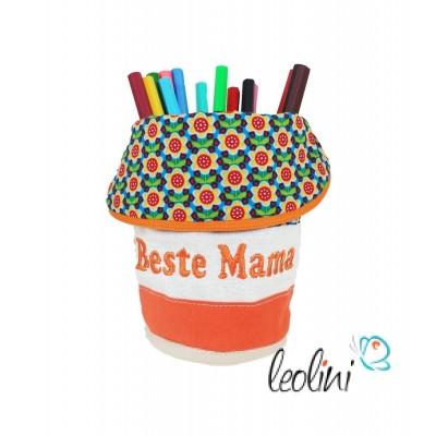 Stiftetasche mit Stickerei Beste Mama