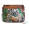 Henkeltasche mit Malerei Leopard