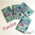 Mutterkindpasshülle mit Pandas Stickerei kleines Wunder