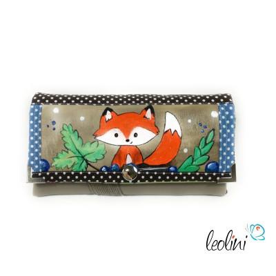 Handmade Portemonnaie - Geldbörse - mit Malerei Fuchs Mary