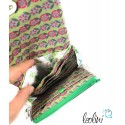 Kleine Geldbörse mit Fuchs Malerei. Handgefertigt im Nähatelier