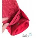 Sparset - Foldover Tasche mit echter Malerei roter Mohn und kleine Geldbörse
