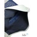 Foldover Tasche Blume des Lebens Stickerei - Lebensblume dunkelblau