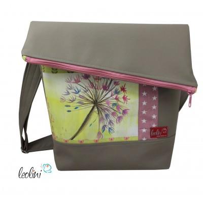 Foldover Tasche mit echter Malerei Pusteblume - ein Einzelstück
