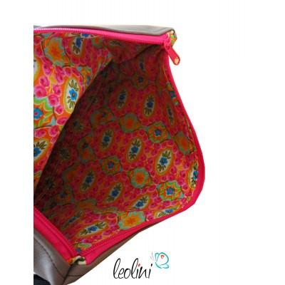 Foldover Tasche Blume des Lebens Stickerei - Lebensblume  KARO