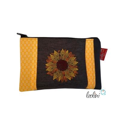 Federmäppchen, Schminktasche Sonnenblume