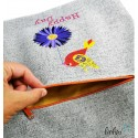 Handmade Sportbeutel Gymbag mit Stickerei Happy Day