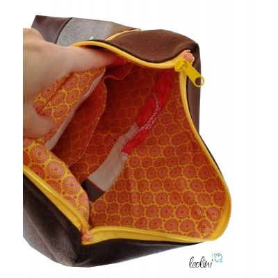 Foldover Tasche Füchse Stickerei  - mit Außenfach