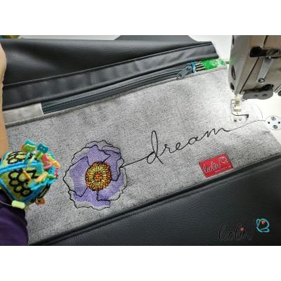 Foldover Tasche Blume Dream Stickerei  - mit Außenfach