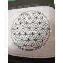 Foldover Tasche Blume des Lebens Stickerei - mit Außenfach