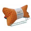 Leseknochen - Lesekissen von Leolini orange türkis