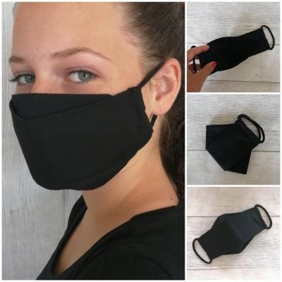 UNIFARBEN Mund-Nasenbedeckung aus Baumwolle mit Filterfach für Erwachsene