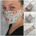 Lustige Mund-Nasenbedeckung aus Baumwollstoff mit Filterfach für Erwachsene