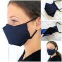 UNIFARBEN Mund-Nasenbedeckung aus Baumwollstoff mit Filterfach für Erwachsene