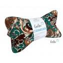 Leseknochen - Lesekissen aus feinem Baumwoll Ribcord smaragd braun