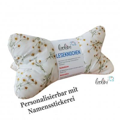 Leseknochen - Lesekissen von Leolini Kamille mit Namen