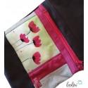 Echte Malerei - Foldover Tasche Mohn - mit Außenfach