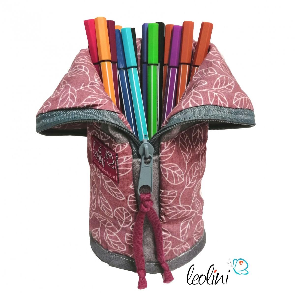 Personalisierbare stehende Stiftetasche, Stiftepennal altrosa