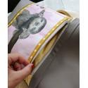 Echte Malerei - Foldover Tasche Faultier - mit Außenfach