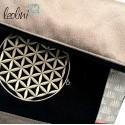 Foldover Tasche Blume des Lebens Stickerei - Lebensblume bronze