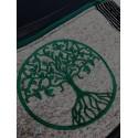 Foldover Tasche Lebensbaum grün schwarz mit Kristallsteinen