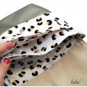 Umhängetasche mit Stickerei Blume des Lebens - khaki beige