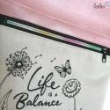 Foldover Tasche Balance Stickerei - rose metallic - mit Außenfach